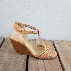Seychelles | Strappy Multi Colored Wedge Sandal